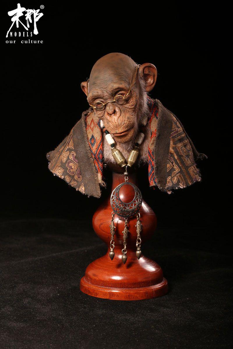 老猿 末那工作室 中国高端模型供应商 Figure Model Lion Sculpture Figurative Sculpture