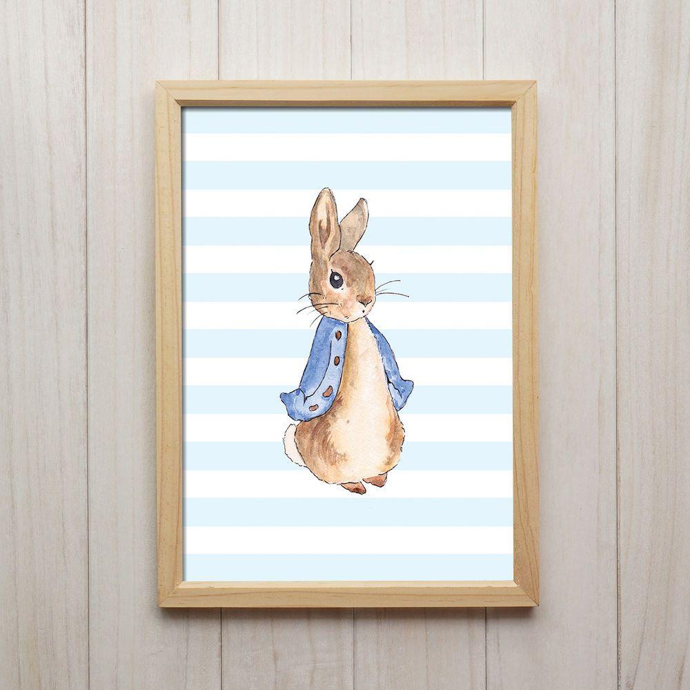 Details zu Bild Hase Kunstdruck A4 Vintage Süße Kinderzimmer Deko ...