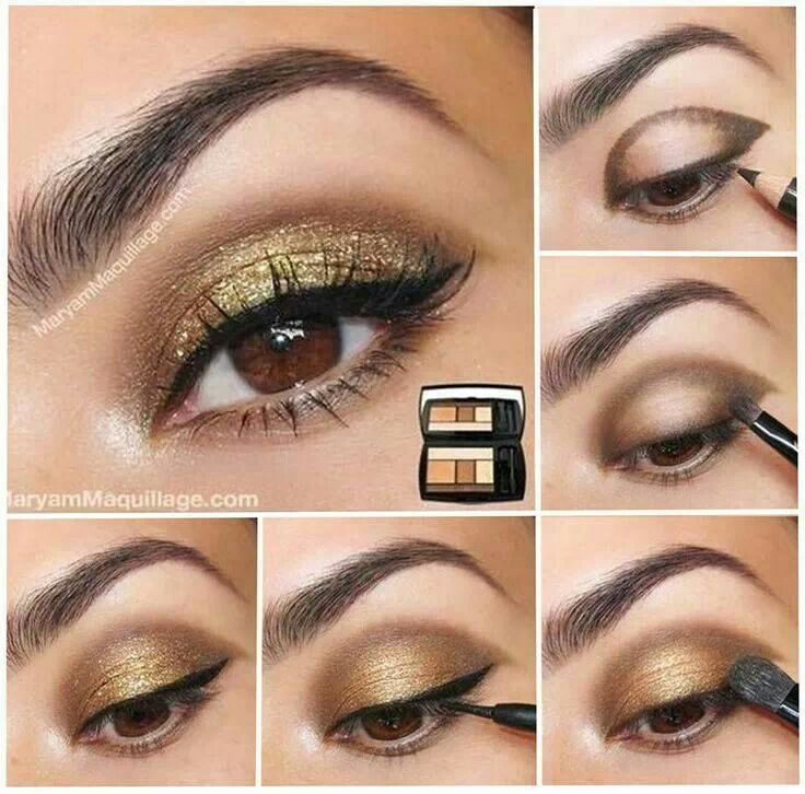 Simple Golden Eye Makeup For Brown Eyes Arts Crafts Pinterest