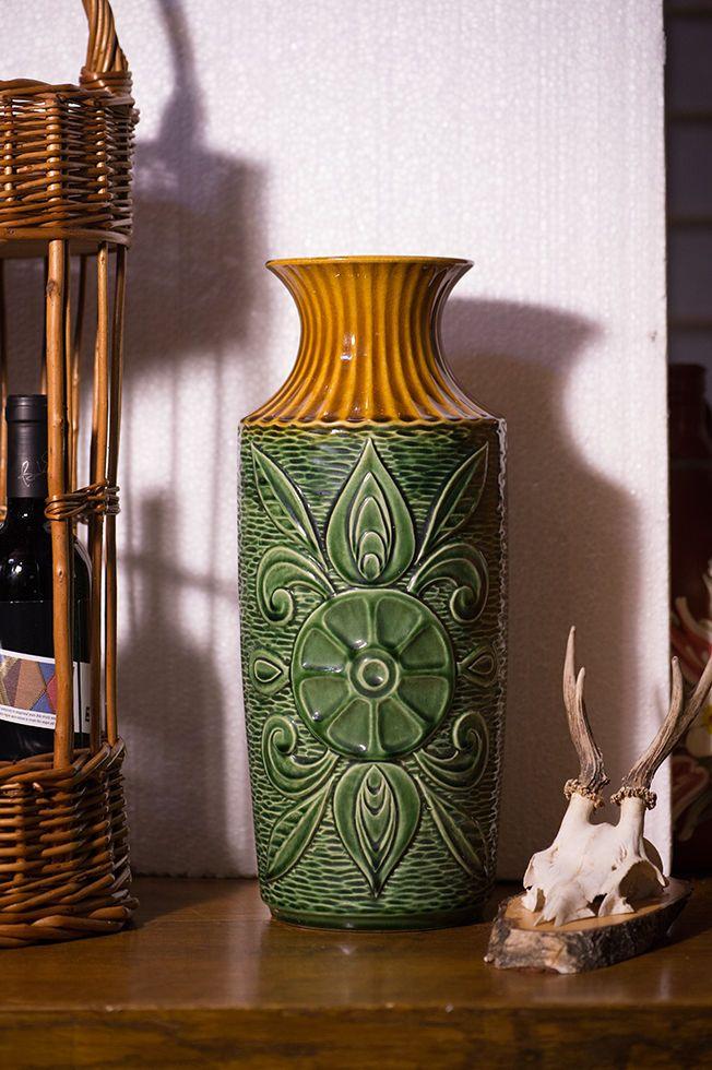 Vase Keramik Blumenvase Keramikvase Alte Bodenvase Amphore Sammler