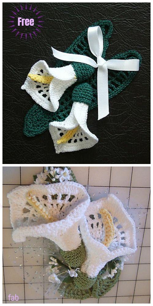 Crochet Calla Lily Flower Bouquet Free Crochet Patterns Crochet