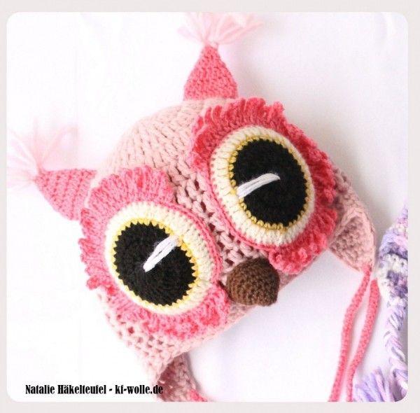 Anleitung Eulen Mütze Kindermütze Häkeln Crochet Pinterest