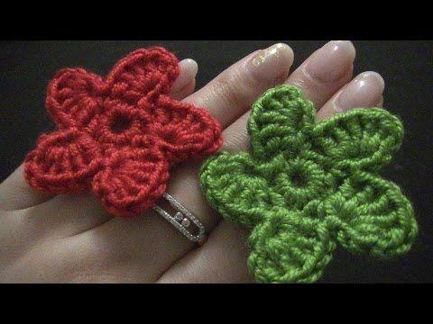 Blume Häkeln 8 Blätter 3d Blume Teil 2 Von 2 Youtube