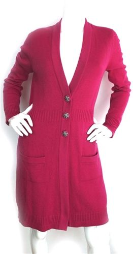 Chanel Fuchsia Cashmere Long Sleeve Sweater Dress, A Second Chance