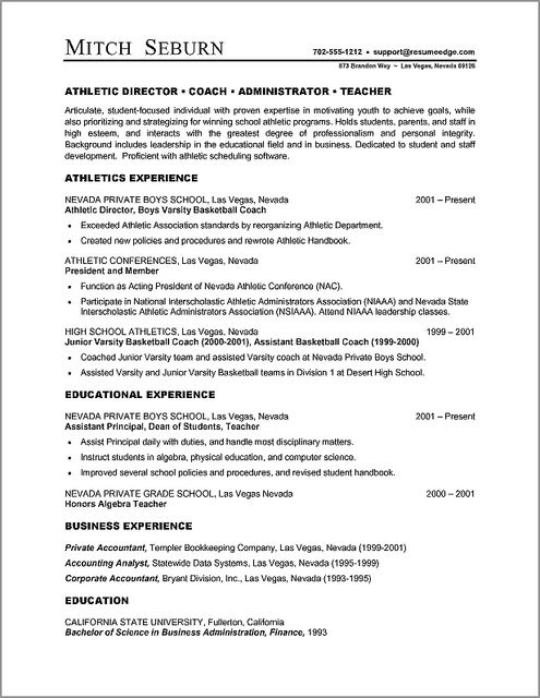 Microsoft Word Resume Template Resume Builder Resume Resume -   - athletic resume template