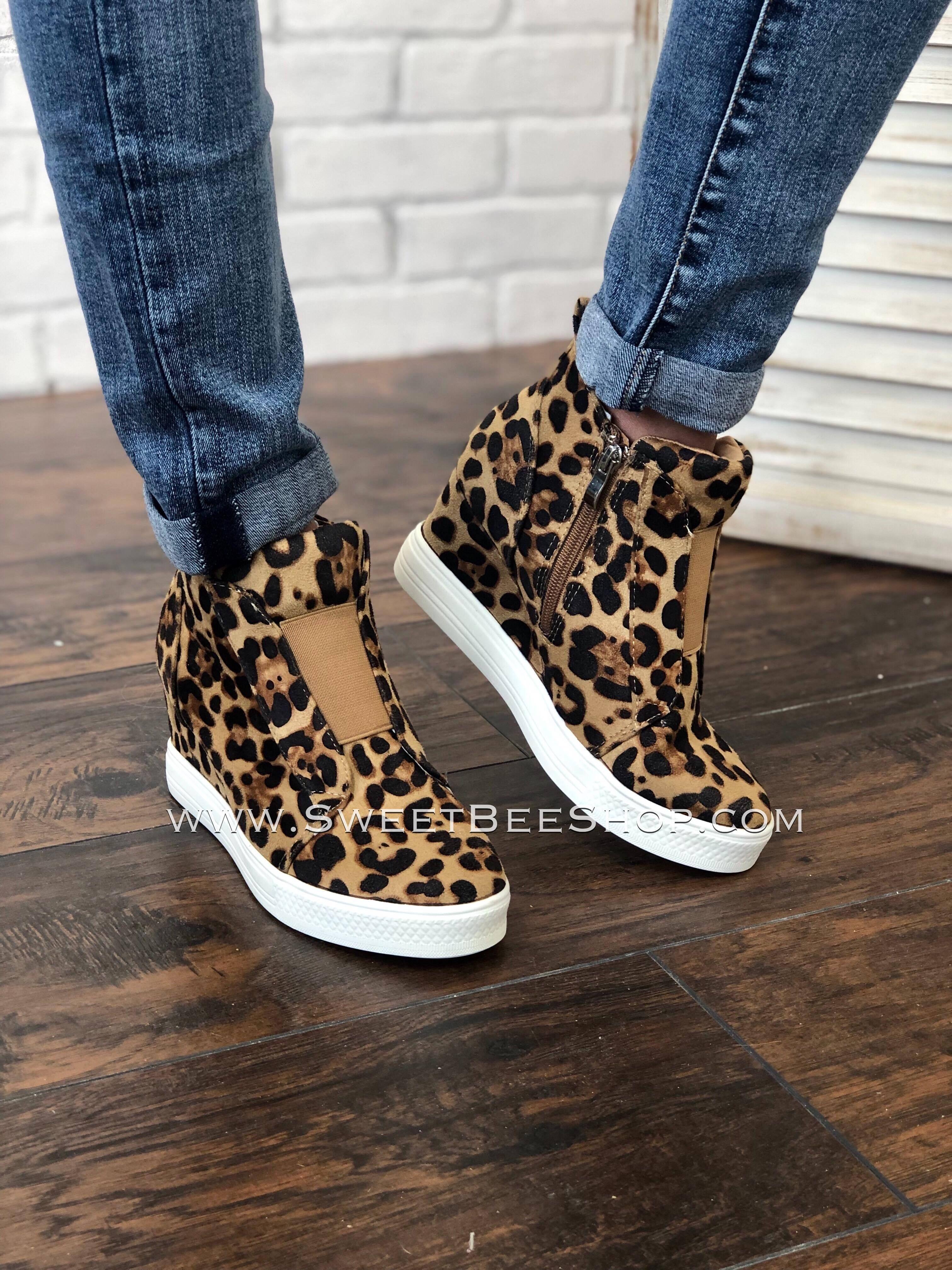 Zoey- Leopard Print Sneaker Wedge