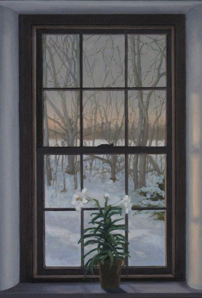 Old Farm House Window & Lily's