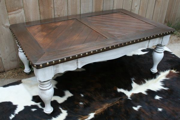 MY NEW COFFEE TABLE (Pre-refinishing.) Thank you Tracey! (Tracey's Fancy on Etsy!)