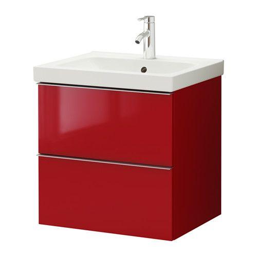 godmorgon odensvik waschbeckenschrank 2 schubl wei hochglanz wei badezimmer. Black Bedroom Furniture Sets. Home Design Ideas