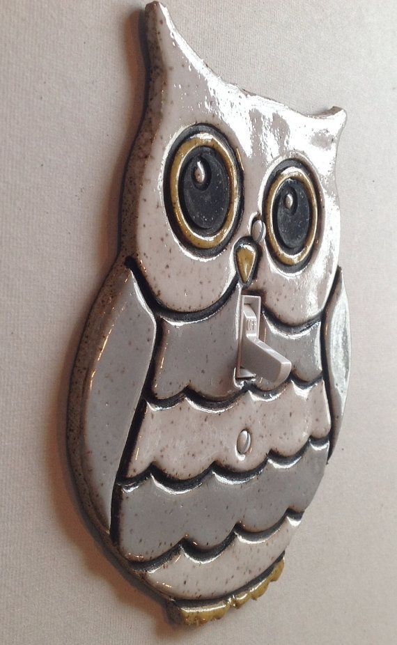 ceramic light switch cover OWL - Google Search