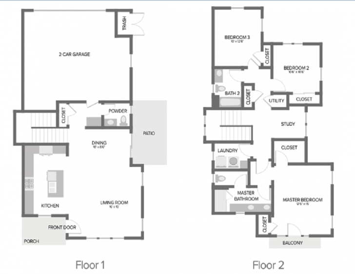20 Example Single Family Home Floor Plans