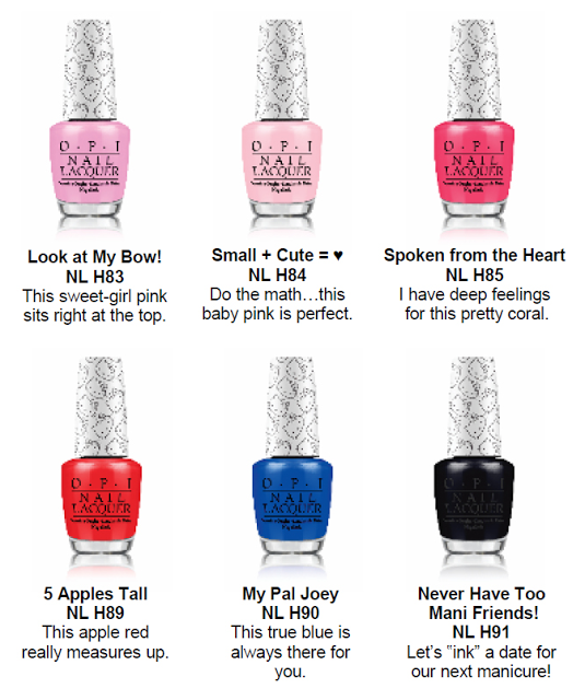 Hello Kitty OPI Nail Polish Collection 2016 Launch Colour Names and ...