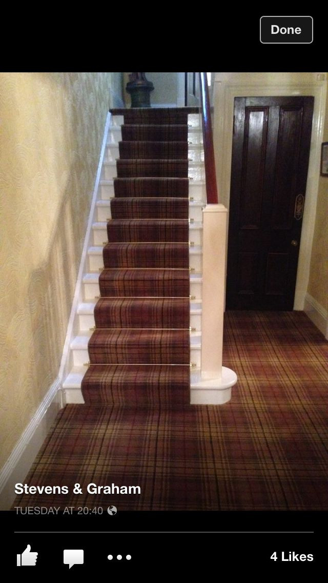 Ancient Gold Tartan Carpet From Stevens And Graham Hall