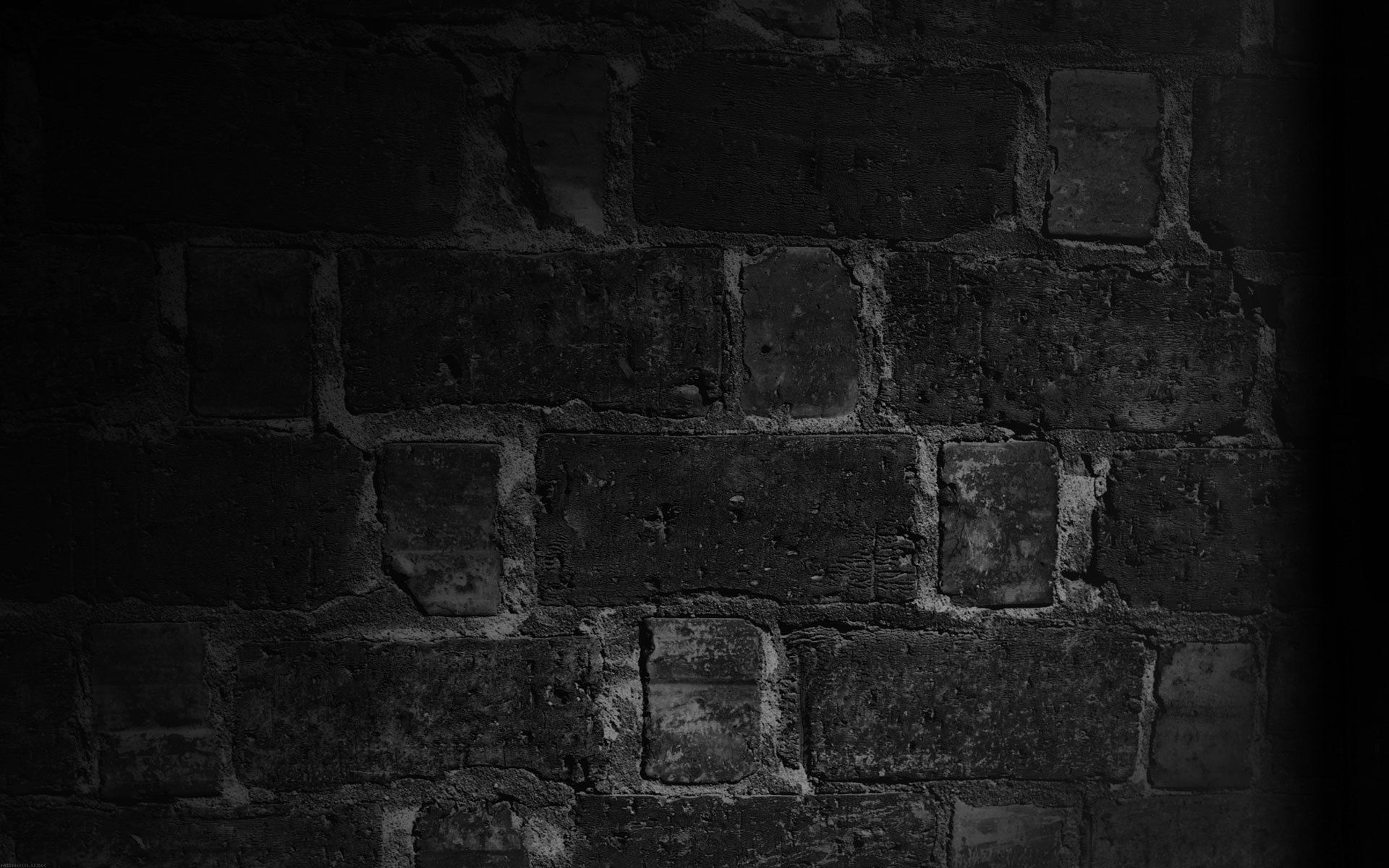 Download wallpaper wall brick texture shadow black and for Black and white wallpaper for walls