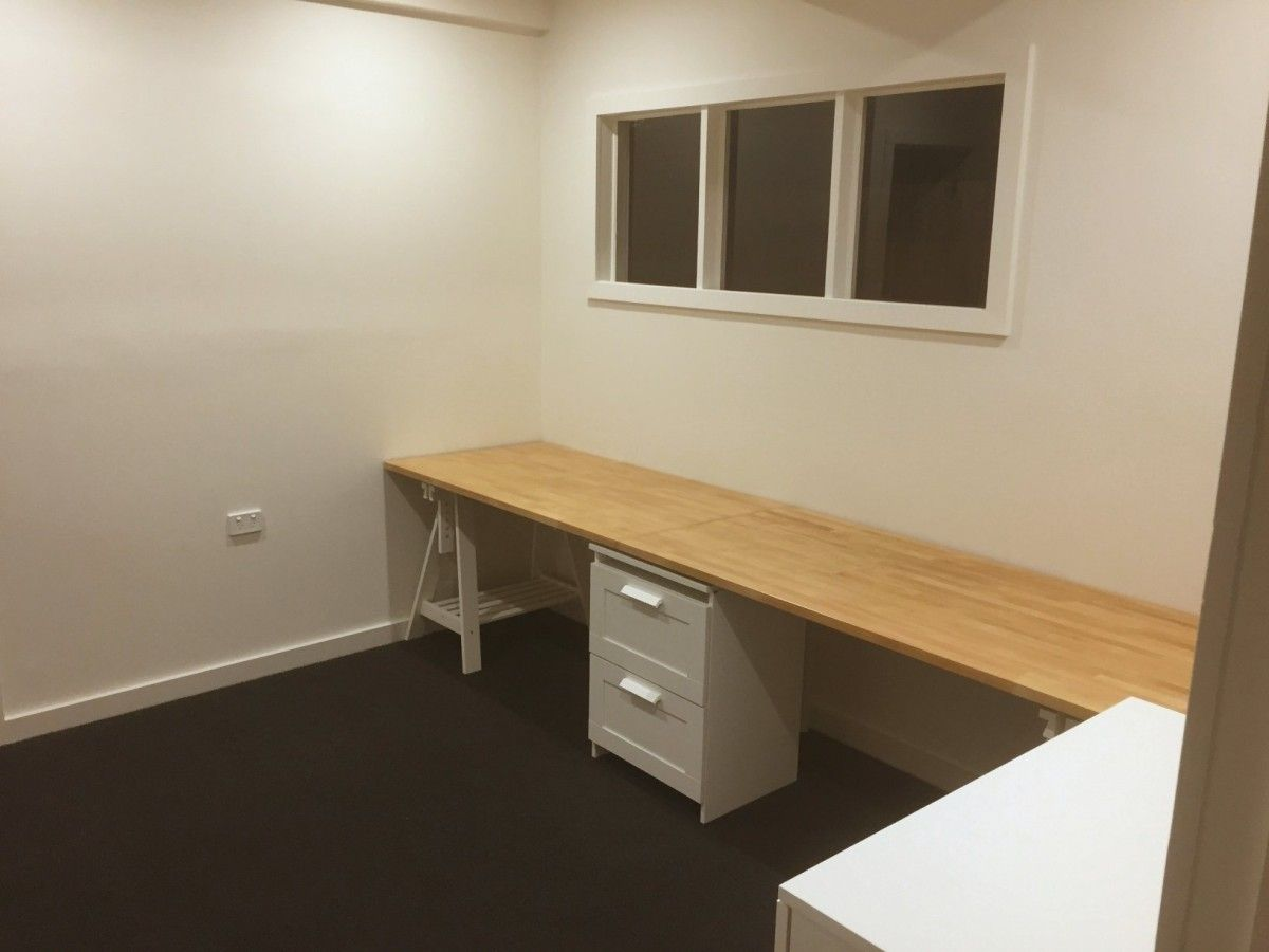 work desks home office. Long Wooden Home Office / Study Bench Desk - IKEA Hackers Work Desks