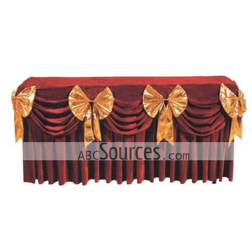 China Wholesale Cloth Table Skirt Tablecloths Furniture