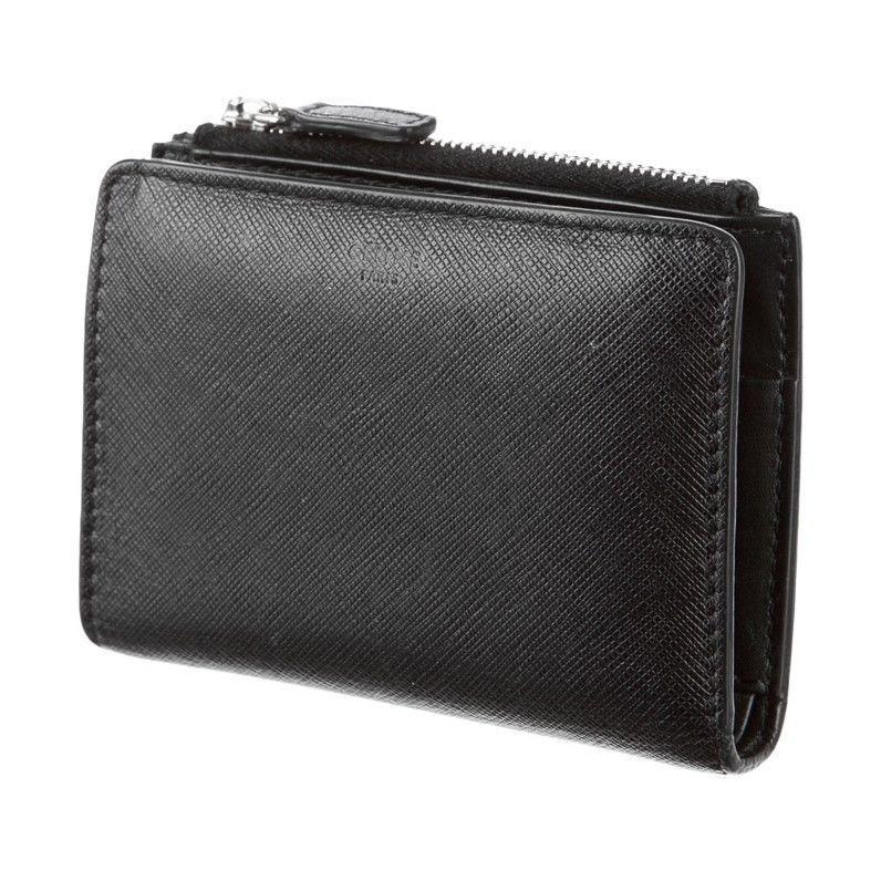 Celine Wallet -  Black Leather Zip Bi-Fold #Celine #Bifold