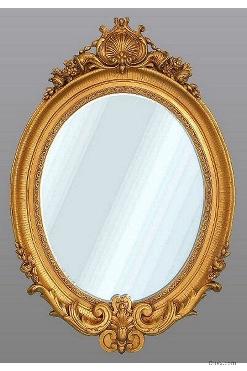 Oval Mirror Wood Frame Enable Cookies Dusx French Mirrors Chandeliers Furniture