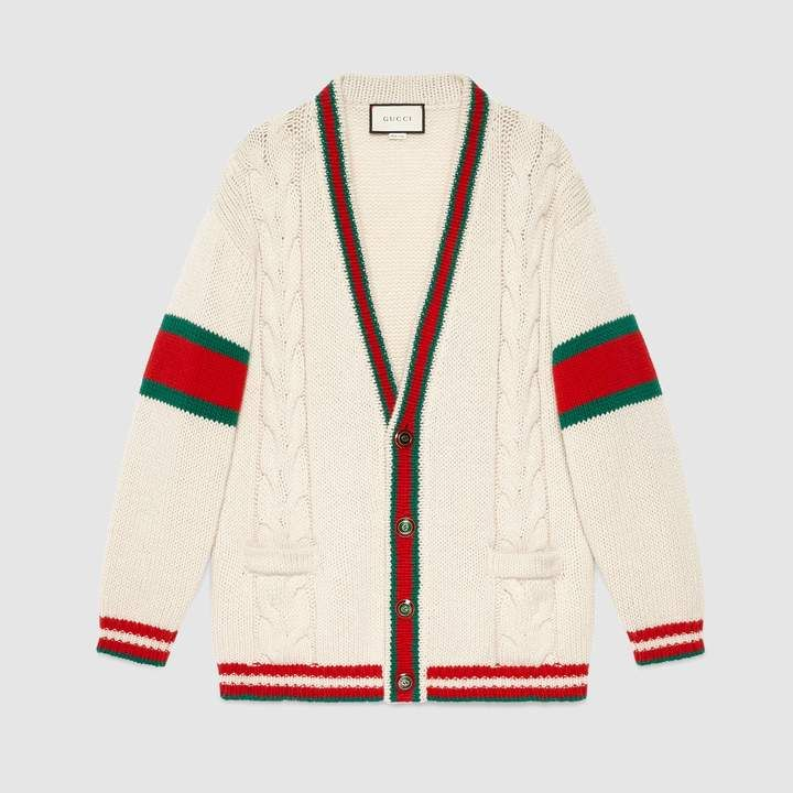 95a1a75b75d Gucci Oversize cable knit cardigan