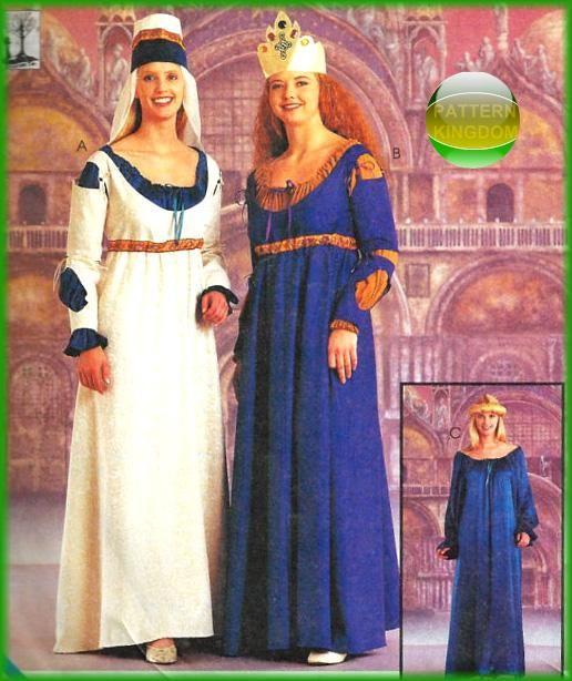 Renaissance Faire Wedding Dress Gown Costume History Mccalls: McCalls 9427 Medieval Maiden Elizabethan Dress Patterns