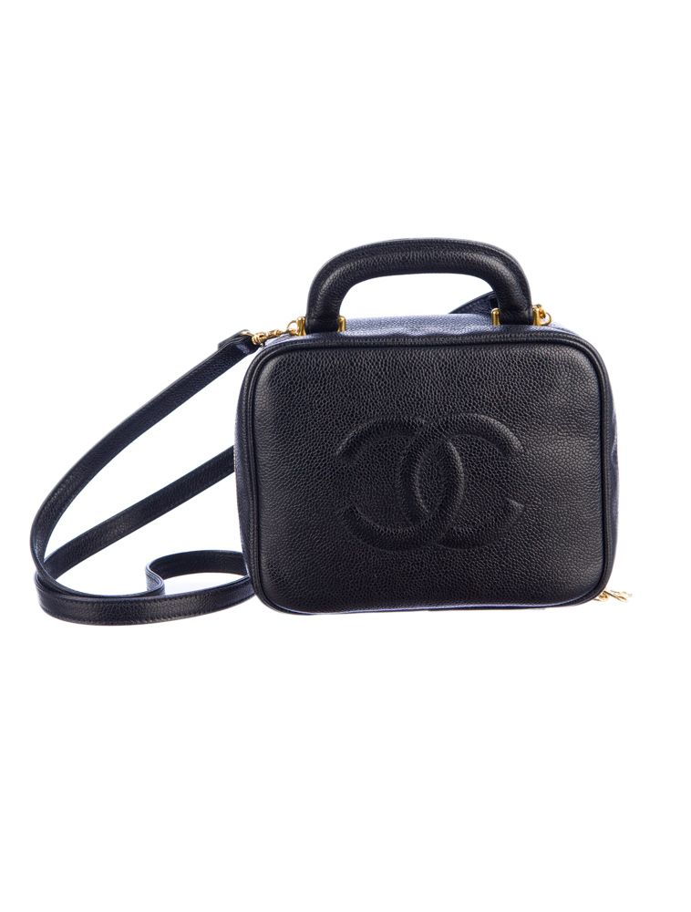 Chanel Leather Train Case.