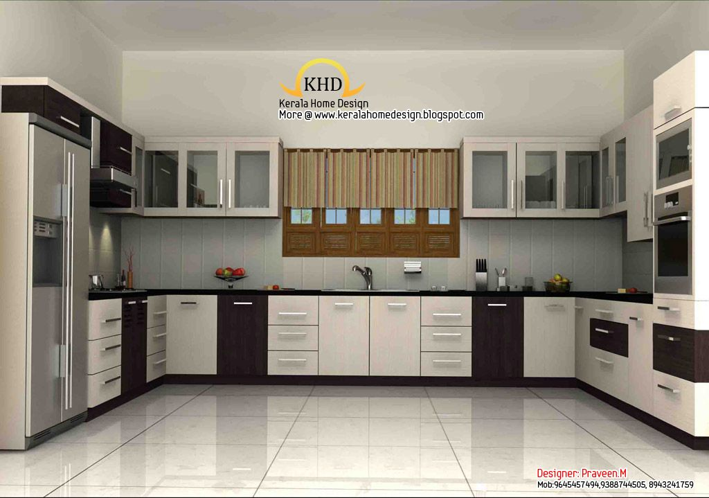 3d Rendering Concept Of Interior Designs Kerala Home Interior Design Kitchen Modern Kitchen Design New Kitchen Designs