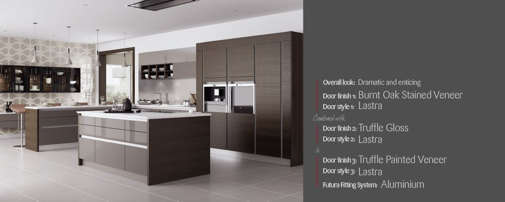 Dark Wood Burnt Oak Kitchen From Mereway Cucina Colore Range, Available At West  London Kitchen