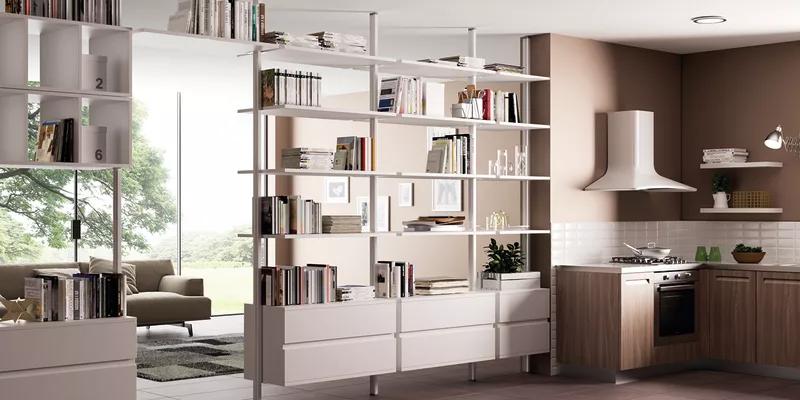 Photo of Come dividere cucina e soggiorno con una libreria componibile fai da te | Leroy Merlin