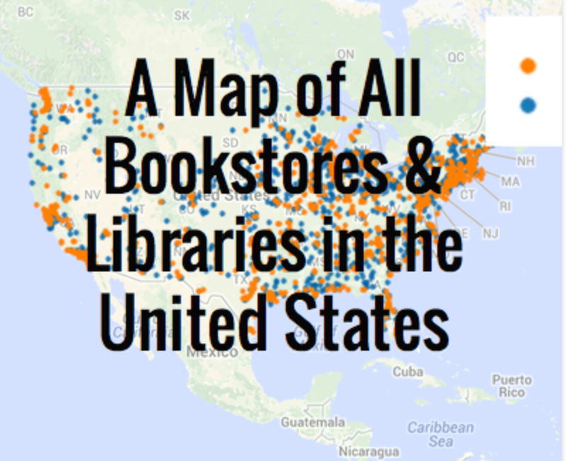 We love this amazing map of all the bookstores and public