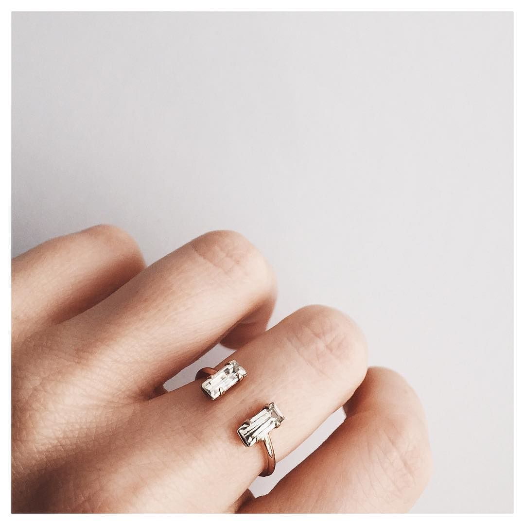 @bingbangnyc - Double Baguette Ring. A MUST HAVE!