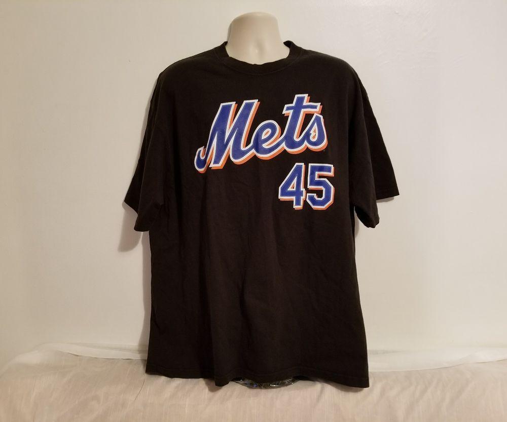 superior quality ae762 f35bf New York Mets Pedro Martinez #45 Adult Black XL TShirt ...