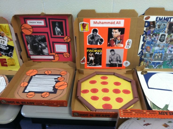 Pizza Box biographies (autobiographies too!) on Pinterest