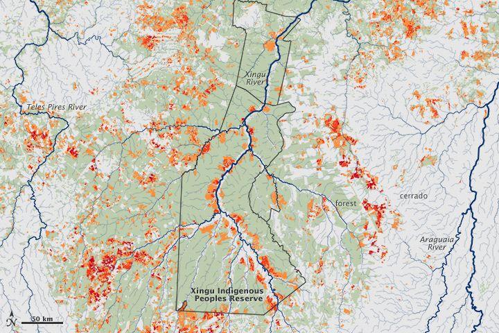 Nasa Brazil Amazon Fire In The Xingu River Basin 25 06 13