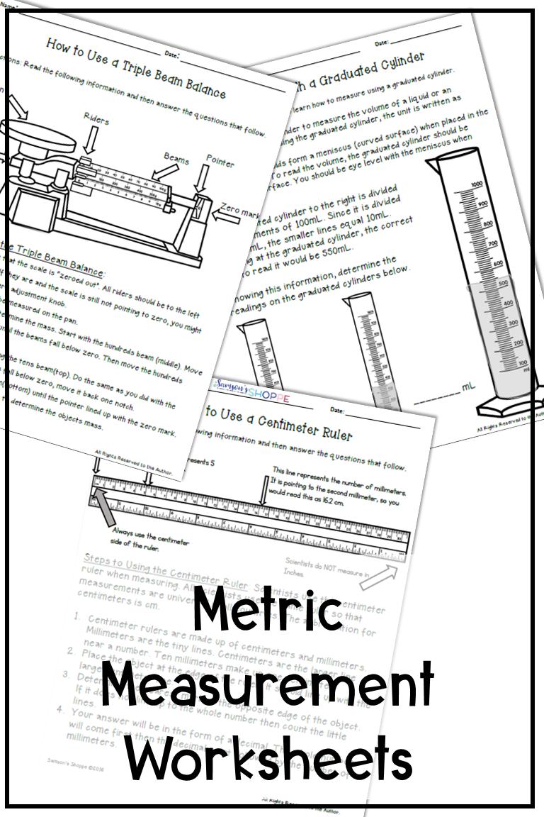 Metric Measurement Activity Metric Measurements Measurement Worksheets Teaching Measurement