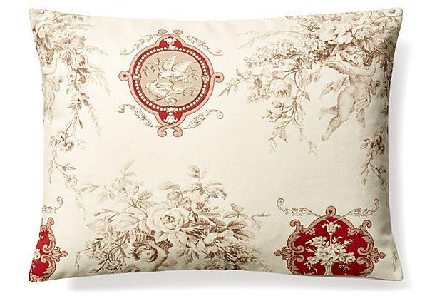 Best Toile 12X16 Cotton Pillow Ivory On Onekingslane Com 400 x 300