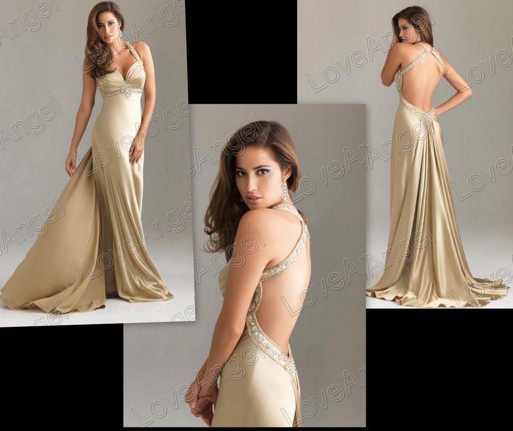 Backless Prom Dresses 2014
