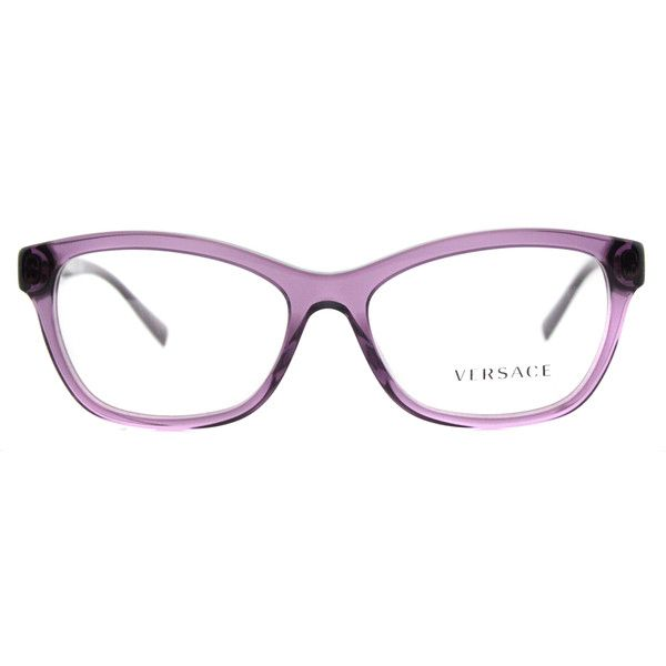 31642a00081 Versace VE 3225 5029 Transparent Violet Cat-Eye Plastic Eyeglasses -...  ( 140) ❤ liked on Polyvore featuring accessories
