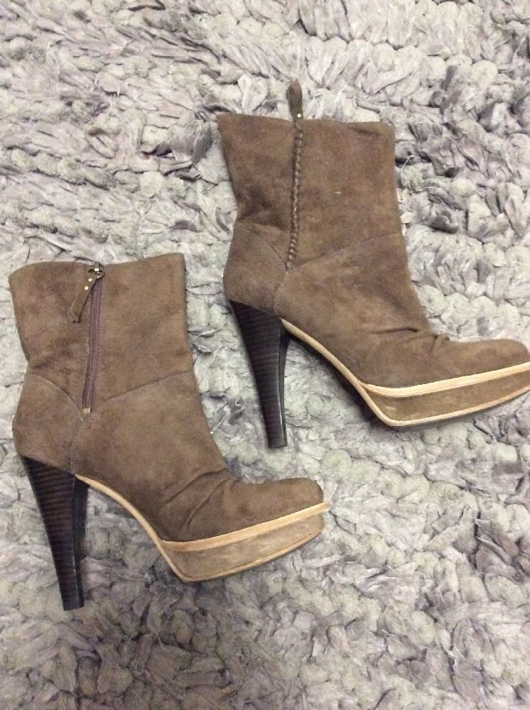 5c588cc6bd8 Ugg Women Brown Suede High Heels Ankle Boots Size 9 #UGGAustralia ...