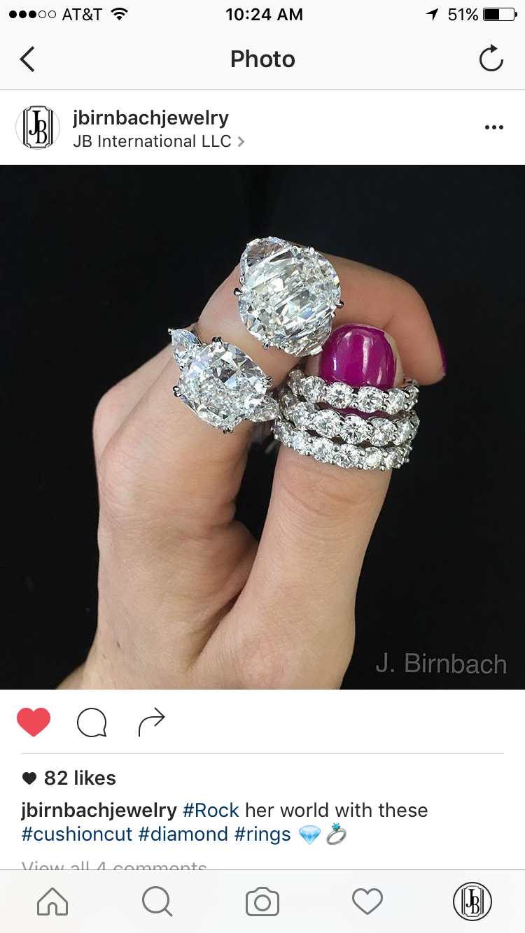Check out our Instagram jbirnbachjewelry and look for us on 1stdibs.com ! #luxury #lifestyle #bae #engagement #shesaidyes #hisandhers #love #instalove #goals #relationshipgoals #diamonds #engagement ring #engagement #wedding #goals #ringenvy #finejewelry