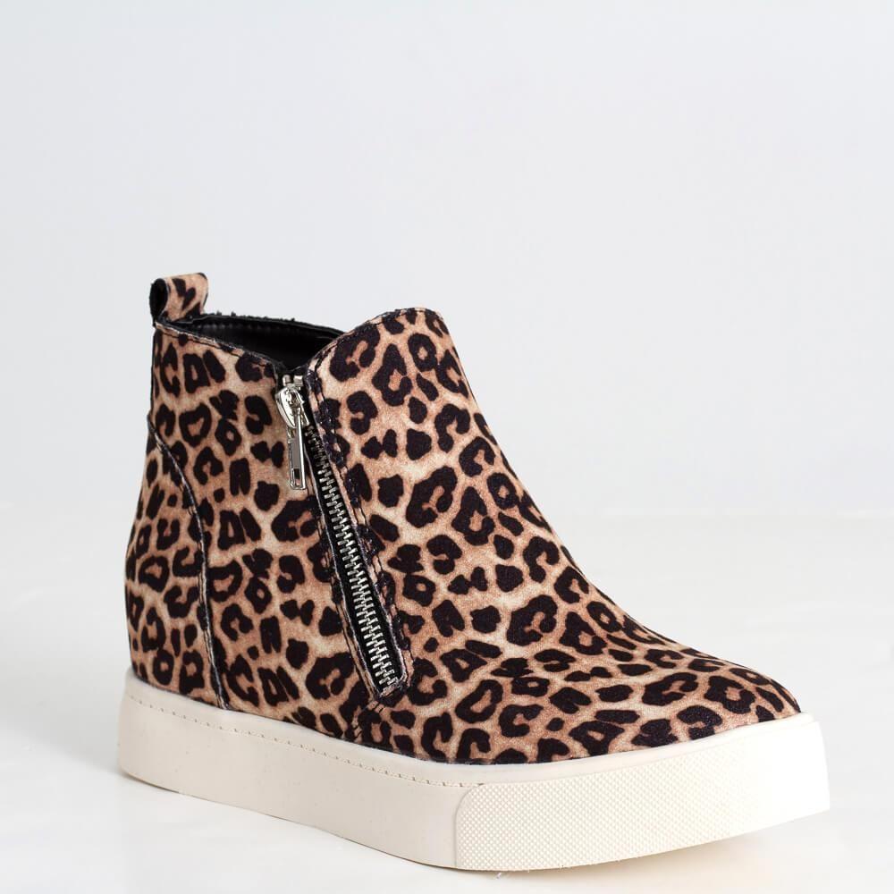 Soda Taylor Leopard Wedge Shoe Women