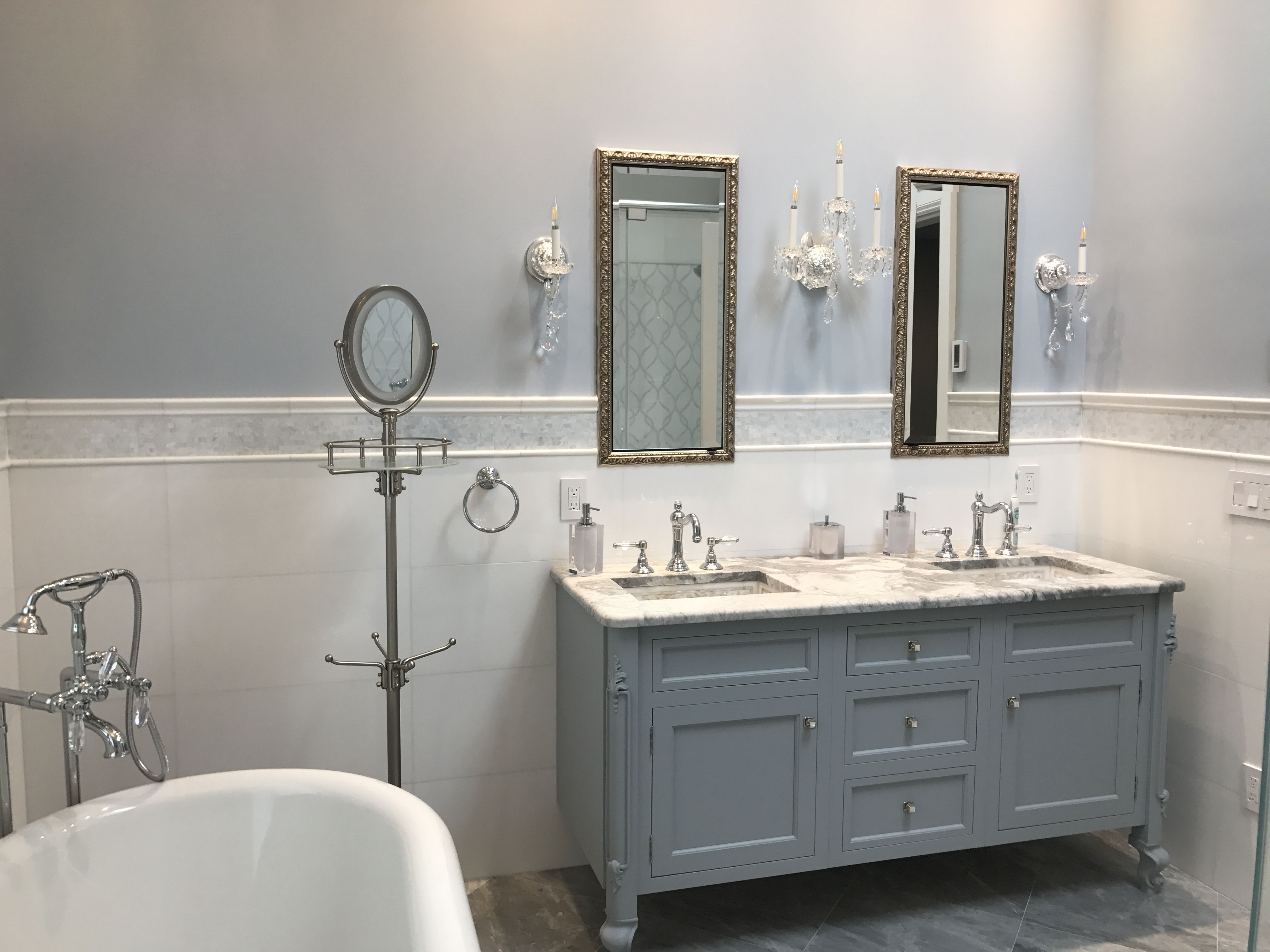 Elite Created This Gorgeous Elegant Bathroom Retreat With @RuttCabinetry
