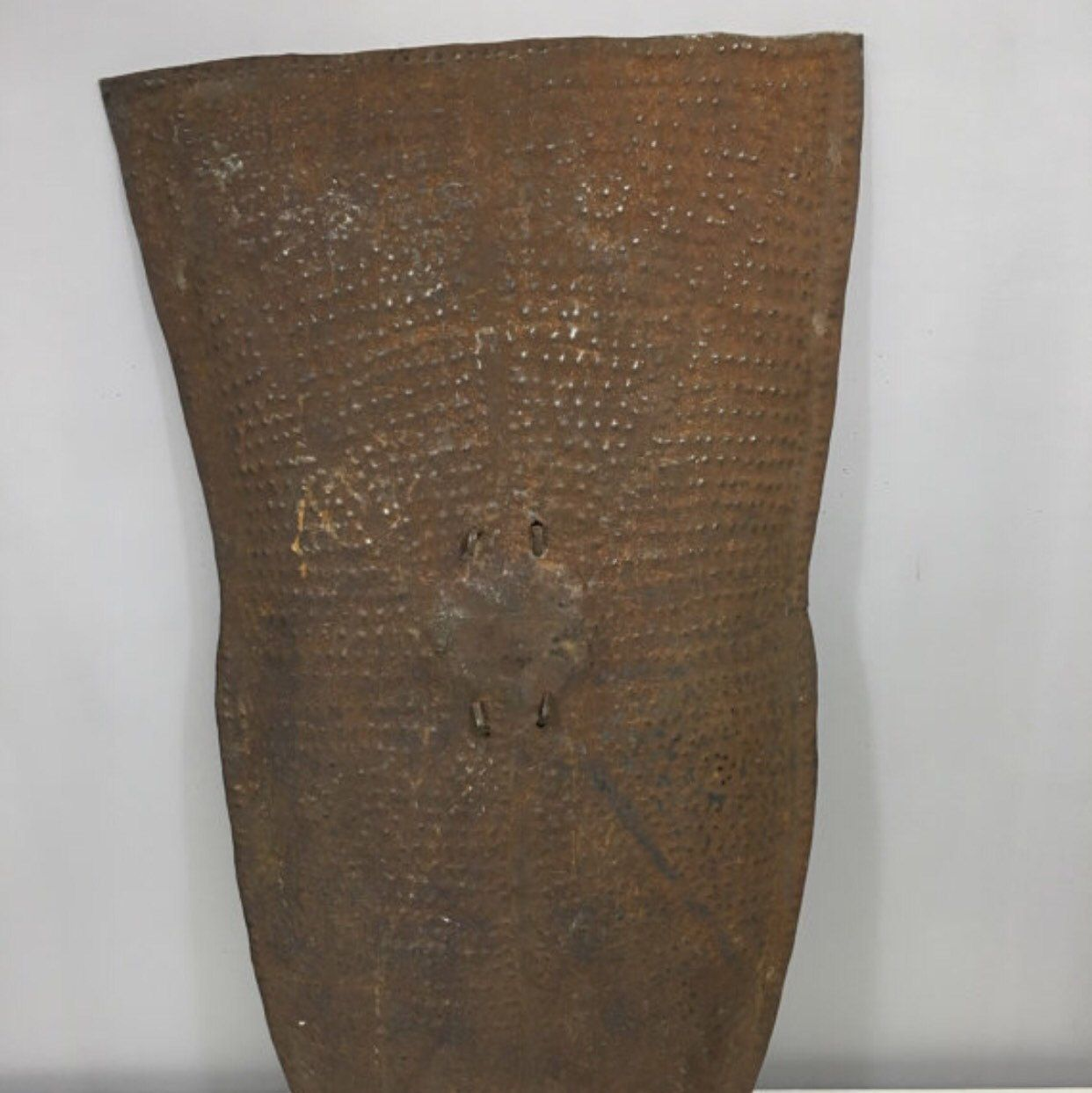 Old African metal shields.