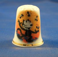 FINE CHINA THIMBLE Felix the Cat was and still is my favorite cartoon.