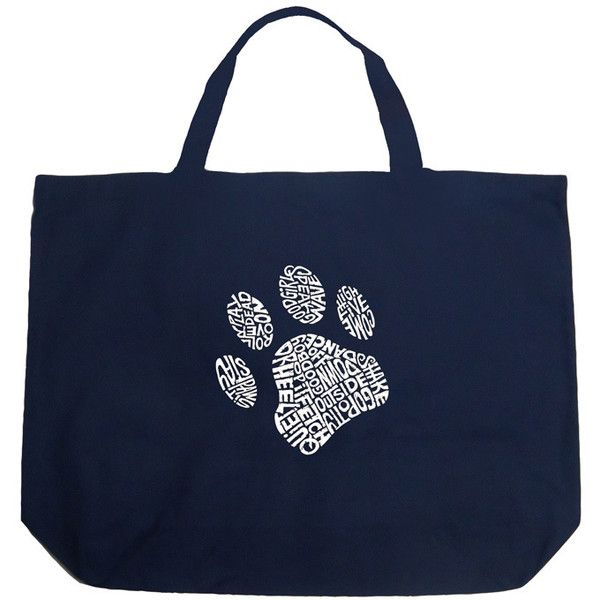 Los Angeles Pop Art Dog Paw Ping Tote Bag 16 Liked On Polyvore