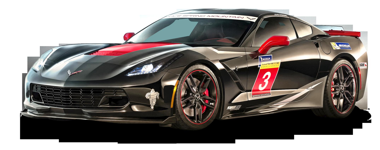 Download Black Chevrolet Corvette Stingray Car PNG Image