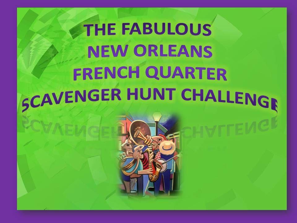New Orleans Scavenger Hunt Kids