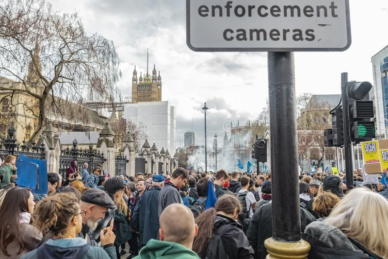 Anti Brexit Protest In Westminster London Stock Images