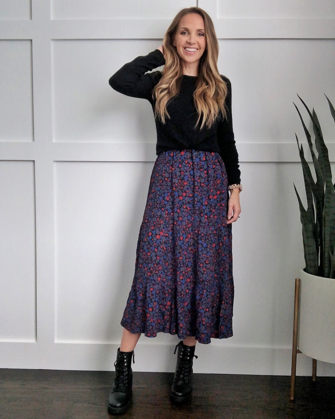 How To Wear A Midi Dress In The Fall Merrick S Art Midi Dress Outfit Midi Dress Winter Layer Dress Outfit [ 1400 x 1120 Pixel ]