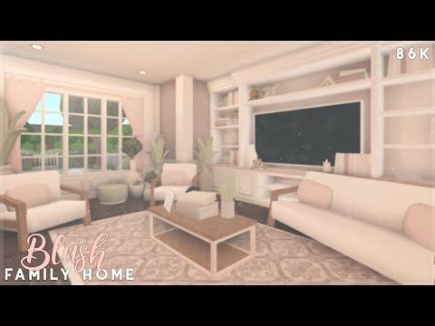 Bloxburg   Cute Blush Family Home Speed Build - YouTube in ...