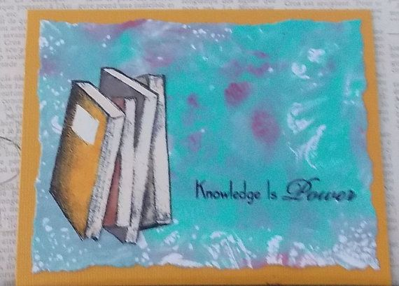 Knowledge is Power Bookworm Greeting Card by cargren on Etsy, $5.00